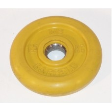Диск для штанги MB Barbell желтый - 30 мм - 1.25 кг