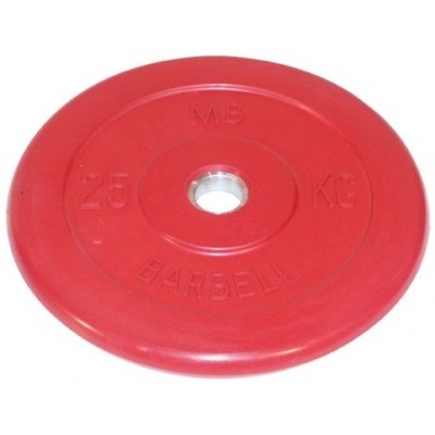 Диск для штанги MB Barbell красный - 30 мм - 25 кг