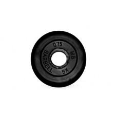 Диск для штанги MB Barbell черный - 26 мм - 0.75 кг