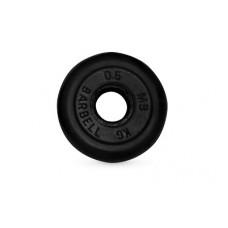 Диск для штанги MB Barbell черный - 26 мм - 0.5 кг
