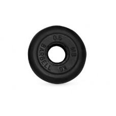 Диск для штанги MB Barbell черный - 30 мм - 0.5 кг